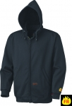 Fire Retardant Hooded Sweat Shirt Zipper Front