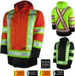 Work king - Lined Safety Insulated Parka