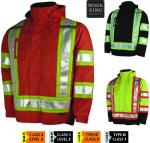 Work King - Lined 5 IN 1 Safety Jacket