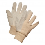 Split Leather Palm, Knit Wrist Gloves - 12/pack