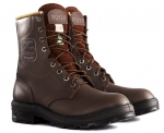 "ROYER - BROWN ALL LEATHER 8"" SAFETY BOOTS"
