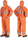 PIONEER HI-VIZ SAFETY ORANGE SMS DISPOSABLE COVERALL