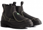 "ROYER - ELASTIC SIDE BLACK 6"" MET SAFETY WORK BOOT - SMELTER"
