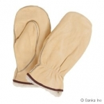 Ganka - Smooth leather cowgrain mitts- with removable liner