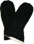 COWSPLIT HEAVY LEATHER LINED SNOWMOBILE MITT GUANTLET