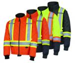 PIONEER PROTECTIVE - HI-VIZ SAFETY QUILTED FREEZER JACKET