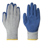 SEAMLESS KNIT LATEX GLOVES - RECYCLED POLY/COTTON KNIT - 12 PACK