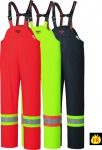PIONEER PROTECTIVE - FLAME RESISTANT FR PU STRETCH HI-VIS SAFETY RAIN BIB PANT