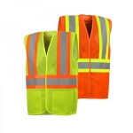 6XL OVERSIZE Five Point Tear-Away Safety Vest with Two Pockets