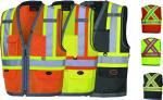 PIONEER    Mesh Back Zip Front Surveyor's SAFETY Vest