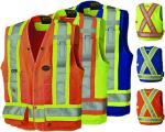PIONEER PROTECTIVE - HI-VIZ SURVEYOR'S SAFETY 150 Denier VEST