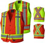 PIONEER PROTECTIVE -SURVEYOR'S SAFETY VEST - POLY/COTTON - TEAR-AWAY