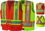 PIONEER PROTECTIVE - HI-VIZ SURVEYOR'S SAFETY 600 Denier VEST