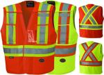 PIONEER PROTECTIVE - HI-VIZ SAFETY Tricot TEAR-AWAY VEST