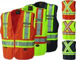 PIONEER PROTECTIVE - HI-VIZ SAFETY ZIPPER TEAR-AWAY MESH BACK VEST