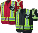 PIONEER PROTECTIVE - CSA SURVEYOR'S/SUPERVISOR'S COTTON DUCK SAFETY VEST