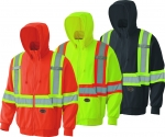 PIONEER PROTECTIVE - HI-VIZ SAFETY MICRO FLEECE ZIP HOODIE