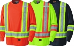 PIONEER PROTECTIVE - BIRDSEYE LONG-SLEEVED SAFETY SHIRT