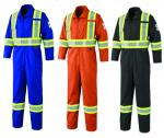 Pioneer Flame Resistant  7 Oz Lightweight 88/12 Hi Viz Safety Coverall
