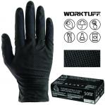BLACK DIAMOND TEXTURED NITRILE DISPOSABLE GLOVES 8MIL   50/BOX