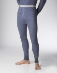 STANFIELD'S - MENS TWO LAYER MERINO WOOL BLEND LONG UNDERWEAR - CHARCOAL COLOR