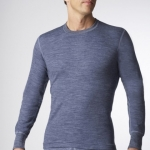 STANFIELD'S - MENS TWO LAYER MERINO WOOL BLEND SHIRT - CHARCOAL COLOR