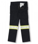 Big K - Black Polyester/Cotton Safety Cargo Pant