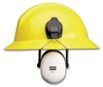 North Safety Em7209 Intruder Cap Mounted Earmuff - Wire Arm for FULL BRIM Hard Hats