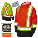 TOUGH DUCK - FLAME RESISTANT FR RAIN SAFETY JACKET