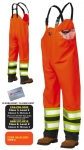 TOUGH DUCK - FLAME RESISTANT FR RAIN SAFETY BIB OVERALL