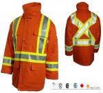 RASCO FIRE RETARDANT 88/12 HI VIS SAFETY LINED PARKA FR8206OH