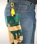 Glove Holder Clip, Safety Breakaway Belt Loop  4.5""