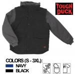 TOUGH DUCK - ZIP-OFF SLEEVE JACKET W/DETACHABLE HOOD