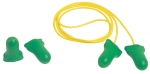 Howard Leightning® Max Lite® CORDED OR UNCORDED Disposable Earplugs, Green, 30 dB