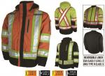 WORK KING HI VIS 4 IN 1 SAFETY WATERPROOF BREATHABLE RIPSTOP PARKA S187