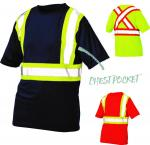 HI VIS - SHORT SLEEVE SAFETY T-SHIRT