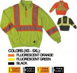WORKKING HI-VIS 11/4 ZIP SAFETY PULLOVER SJ19